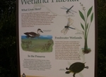 New Interpretive sign for Freshwater Wetland