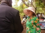 Shelby White being interviewed by ZNS